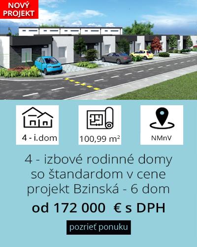 6 radových domov na predaj Bzinská ulica